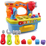 Little Engineer Multifunctional Kids Musical Learning Tool Workbench | Educational Shape Sorter with Lights & Sounds
