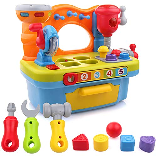 (Liberty Imports Little Engineer Multifunctional Kids Musical Learning Tool Workbench)