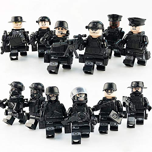 Trivol Minifigures Set of 12pcs SWAT Team with