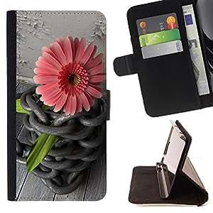 King Case - FOR Samsung Galaxy Core Prime - You're the only one - Prima caja de la PU billetera de cuero con ranuras para tarjetas, efectivo Compartimiento desmontable y correa para la mu?eca