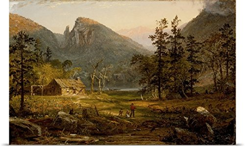 Poster Print entitled Pioneer's Home, Eagle Cliff, White Mountains, 1859 by Jasper Cropsey - Hampshire Settlers New