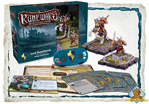 x2 RuneWars Miniatures Game Lord Hawthorne Hero Expansion Bundle from SCATS
