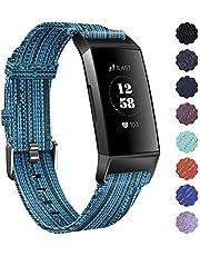 KIMILAR armbanden compatibel met Fitbit Charge 4/Charge 3 armband, stof, snelspanner nylon reservebandje voor Fitbit Charge 4/3/SE fitnesstracker