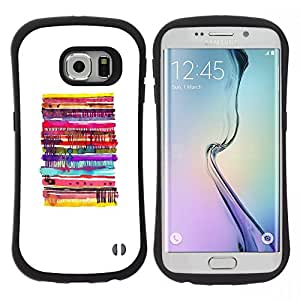 "Hypernova Slim Fit Dual Barniz Protector Caso Case Funda Para Samsung Galaxy S6 EDGE [Pancakes blancas abstractas Pastelería Niños""]"