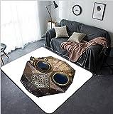 Vanfan Design Home Decorative Steampunk metal robot head Modern Non-Slip Doormats Carpet for Living Dining Room Bedroom Hallway Office Easy Clean Footcloth