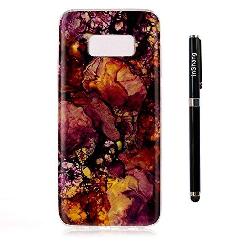 inShang funda para Samsung Galaxy S6 Edge funda del teléfono móvil, anti deslizamiento, ultra delgado y ligero, Estuche, Cubierta, carcasa suave hecho en el material de la TPU, cómodo Case Cover for G Gold