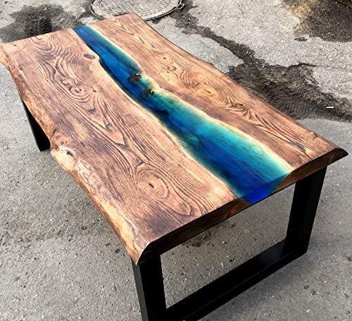 """Liquid Glass 2"""" Thick Pour 2:1 [3 GL Kit], Epoxy Resin Crystal Clear 2.0 Self Leveling 2 Part Epoxy Resin Live Edge Epoxy Table, Resin Wood and DIY Epoxy River Table, 2GL Base Resin & 1GL Hardener by Superclear (Image #2)"""