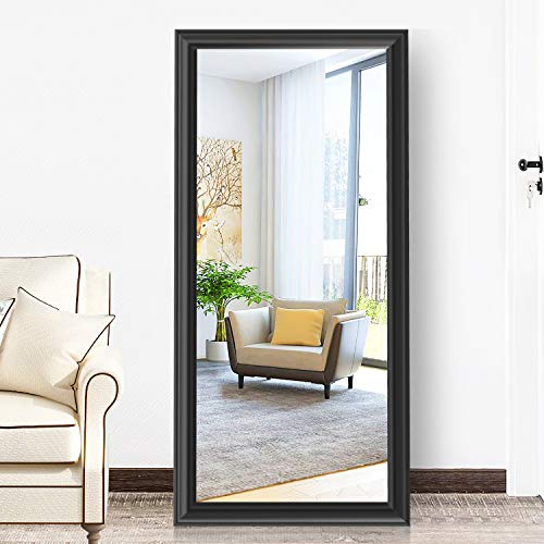 PexFix Full Length Mirror Contemporary Style Framed Dressing Mirror Elegant Bedroom Floor Mirror, Leaner Mirror Wall Mounted Mirror 65