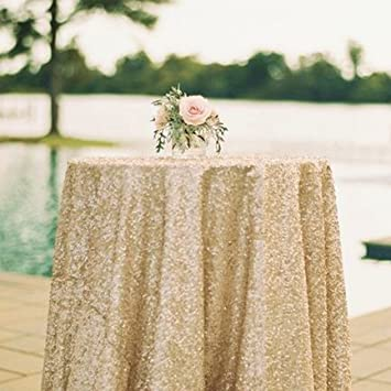 Amazon 50x50 square matte gold sequin tablecloth select image unavailable junglespirit Gallery