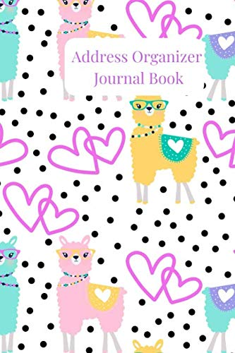 Address Organizer Journal Book: A Colorful llama Alphabetical Small Pocket Address Log and Phone Notebook to Record Contact Names, Birthdays, Phone ... and Emails for organization and Information.
