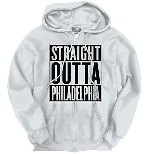 Brisco Brands Straight Outta Philadelphia, PA City Movie T Shirts Gift Ideas Zipper Hoodie Penn Oversized T-shirt