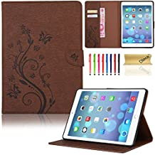 iPad 6 Case, iPad Air 2 Case, Dteck(TM) PU Leather Magnetic Case with [Card Slot/Money Holder] Full Body Protective Folio Flip Case Cover for Apple iPad Air 2/iPad 6th--BROWN
