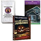 AtmosFEARfx Jack O Lantern Jamboree Halloween Digital Decoration DVD with Hollusion (W) + Reaper Bros Window Projection Screens
