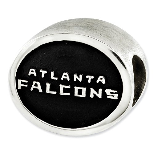 - Jewelry Beads Themed Sterling Silver Enameled Atlanta Falcons NFL Bead
