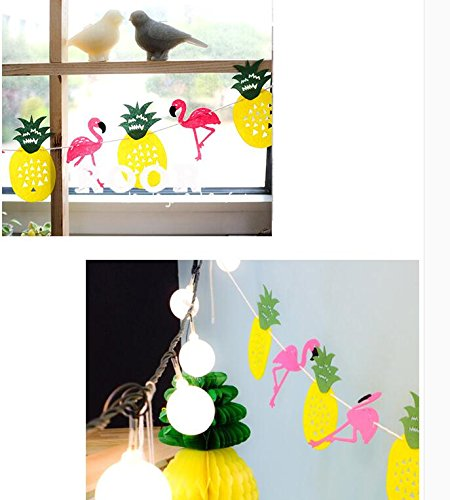 Pink pineapple flamingo party supplies decor girls room for Room decoration products