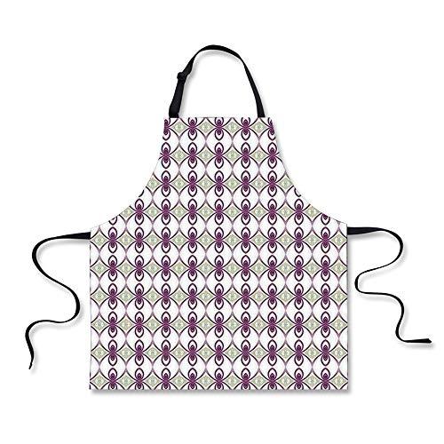 iPrint Cooking Apron,Mauve Decor,Arabesque Eastern Mosaic fr