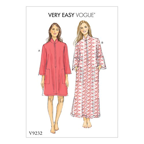 Vogue Patterns V92320Y0 Easy Caftan Dress Sewing Pattern, Sizes 4-14