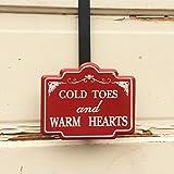 AG Designs Christmas Decor - Decorative Wreath Door Hanger - Cold Toes 4-19/10