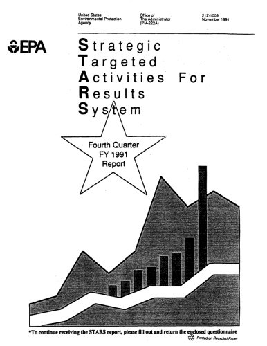 Strategic Targeted Activities for Results System : Fourth Quarter FY 1991 Report