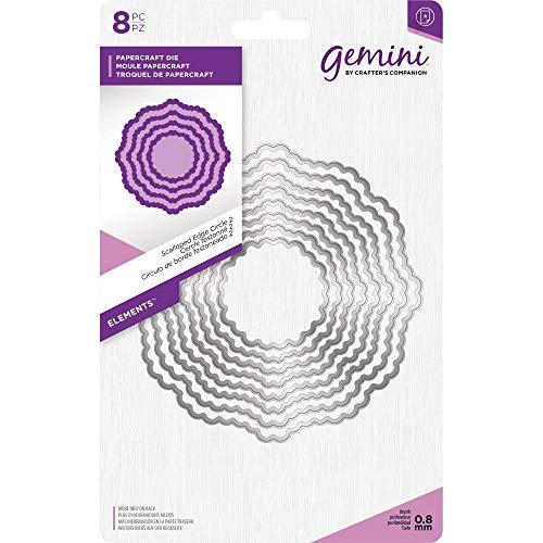 - Crafter's Companion Gemini - Elements Die Set - Scalloped Edge Circle 2 (8pcs)