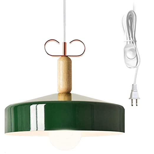 Dimmable Plug In Pendant Light By Kiven Hanging Swag Lamp