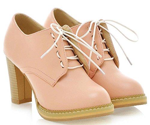 IDIFU (Lace Up Pink Boots)