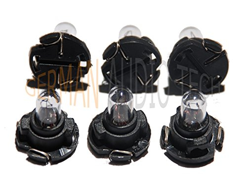 (6) SAAB LIGHT BULBS LAMPS for 900 93 95 SID1 SID2 SIU ACC CLIMATE CONTROL DASH INSTRUMENT PANEL - BRAND NEW!