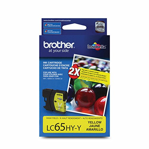 Officemax Brother Ink - Brother LC65HYYS High-Yield Yellow Ink Cartridge