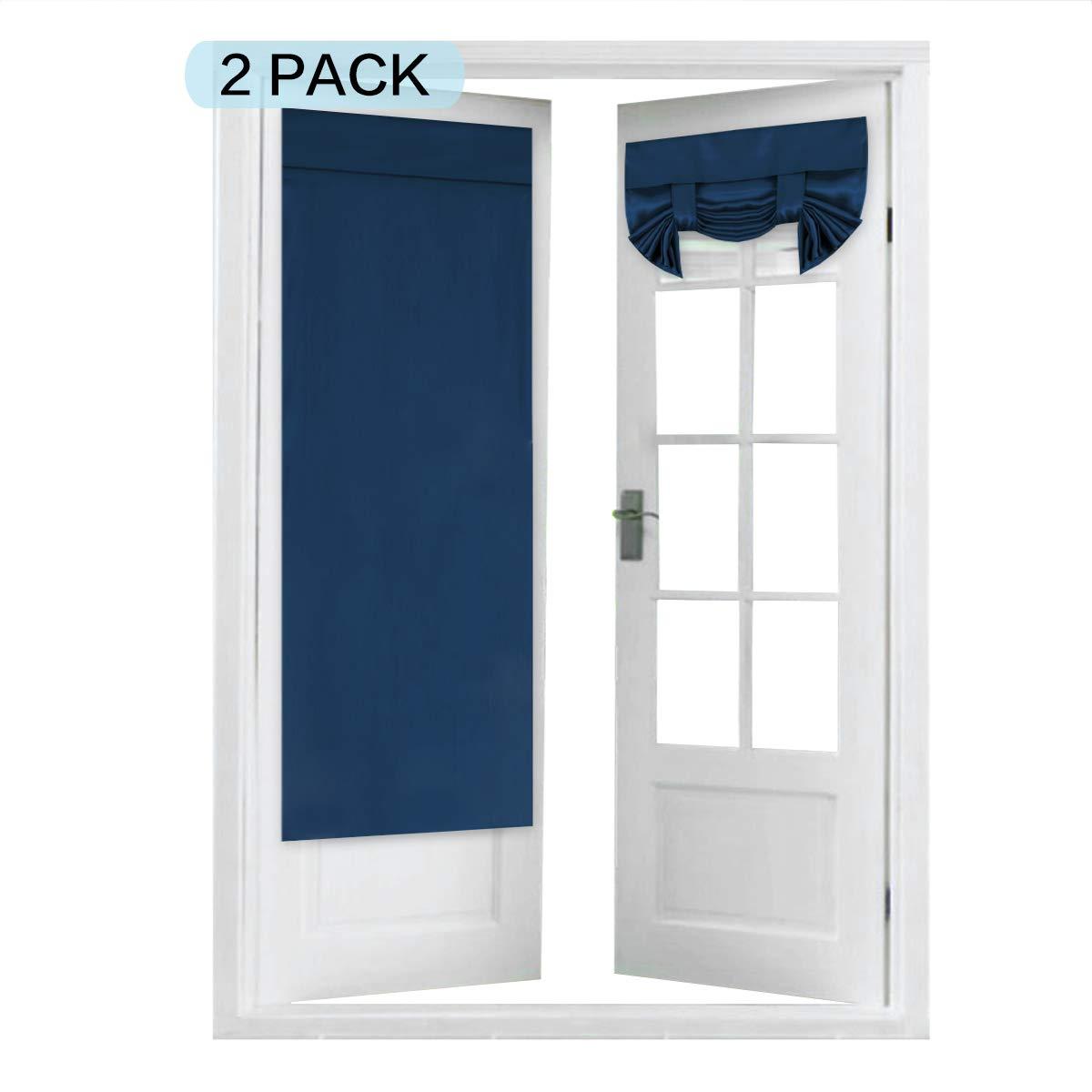 Aqua Blackout Curtain Rod Pocket 2 Panels FlamingoP Tricia Window Door Curtains 26 x 68 Inches