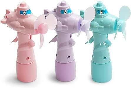 RIsxffp Mini Mano Dibujos Ventilador Animados Plano Forma Agua Adición Niebla Spray Manivela Ventilador Juguete para niños Random Color: Amazon.es: Hogar