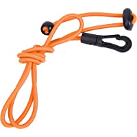 Båtliv paddel koppel, elastisk sträng orange justerbart kajak paddel koppel för paddling för surfbräda