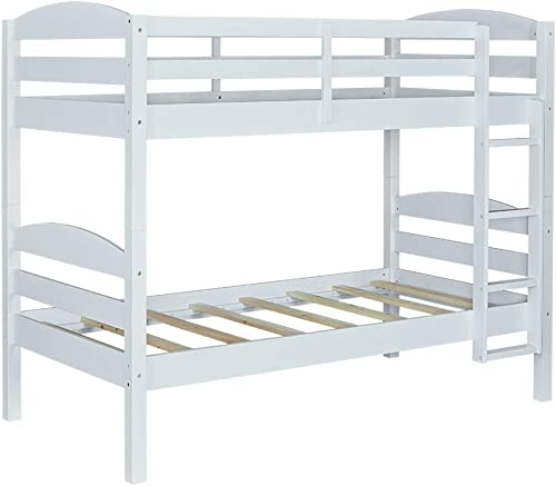 MUSEHOMEINC Hawaii Solid Wood Classic Convertible Bunk Bed