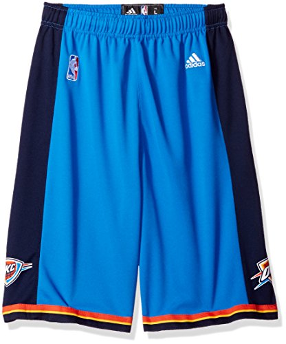 Adidas Mini Mesh Shorts - Adidas Oklahoma City Thunder Youth (Sizes 8-20) Revolution 30 Replica Road Shorts Large