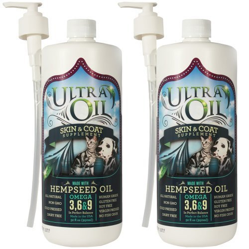 1/2 Ultra Oil Skin Coat Supplement with Sardine, Anchovy Hempseed Oil (64fl. oz.) ()