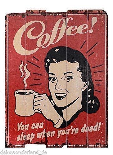 Cartel de madera Cartel Coffee You Can Sleep Café Cocina ...