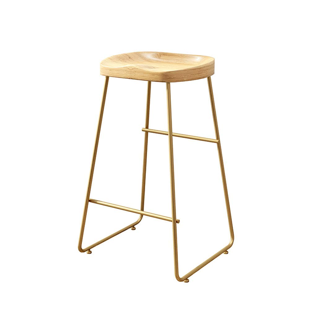 45CM Barture Bar Chair Stool Barstool Chair Reception Chair High Chair Solid Wood Iron Bar Chair (Size   45CM)