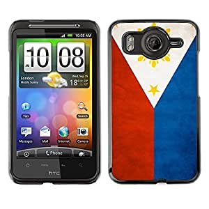 Shell-Star ( National Flag Series-Philippines ) Snap On Hard Protective Case For HTC Desire HD / Inspire 4G by ruishername