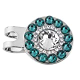 Swarovski Crystal Golf Ball Markers with Magnetic Hat Clip – Premium Golf Gifts for Women by Girls Golf Bling