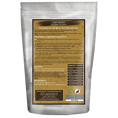 Amazon Com 1 Pack Light Brown Henna Hair Beard Dye Color The