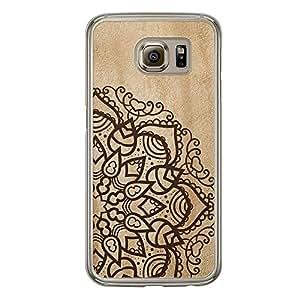 Loud Universe Samsung Galaxy S6 Madala N Marble A Madala 4 Printed Transparent Edge Case - Beige