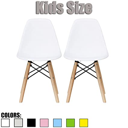 2xhome Set Of Two (2)   White   Eames Chair For Kids Size Eames