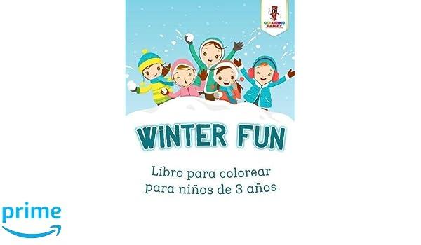 Winter Fun: Libro Para Colorear Para Niños De 3 Años (Spanish ...