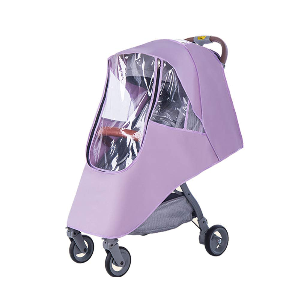 SHNUM - Baby Stroller Accessories Universal Waterproof Rain Cover Wind Dust Shield Zipper Open Baby Strollers Pushchairs