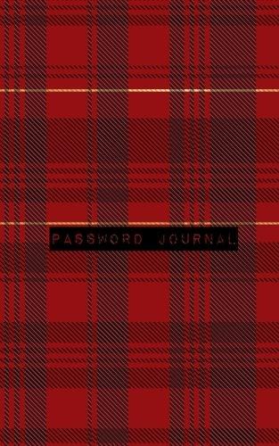 Password Journal: Red Plaid Design | Password Log, Internet Address, Logbook, Diary, information, internet safety, Journal, Notebook, Women, Men, Boys, Girls, Elderly, 5x8in small A-Z list