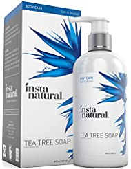 Tea Tree Oil Antifungal Soap - Foot & Body Wash - For Nail Fungus, Odor, Athlete's Foot, Ringworm & Jock Itch - For Dry, Itching & Irritated Skin - InstaNatural - 8 oz