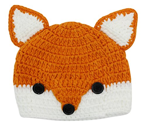 Baby Toddler Cute Fox Animal Design Knitted Hat Crochet Hooded Cap Photography Props Beanies