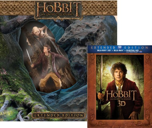 The Hobbit: An Unexpected Journey Extended Edition with Limited Edition Amazon Exclusive Bilbo/Gollum Statue (Blu-ray 3D + Blu-ray)