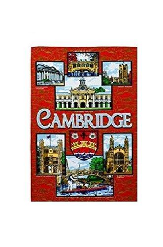 Red Cambridge Tea Towel Souvenir Gift Gargoyles Kings College Trinity Emmanuel Bridge of Sighs Punting by (Gargoyle Handle)