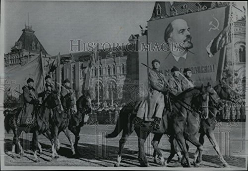 1967 Wire Photo Horse Parade in 50th Anniv Bolshevik Revolution in Moscow - - Historic Images