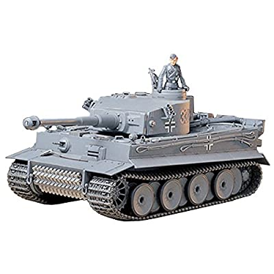 Tamiya 35216 1/35 Ger. Tiger I Early Production Tank Plastic Model Kit: Toys & Games